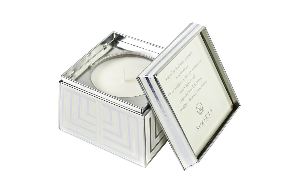 Votivo Soziety Trapezoid Tin - Wonderful White